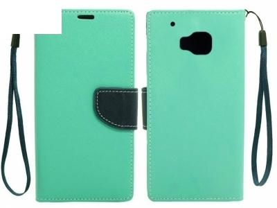 КАЛЪФ ТЕФТЕР Telone Fancy Case ЗА HTC ONE M9 - Mint / Dark Blue