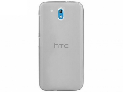УЛТРА ТЪНЪК ПРОЗРАЧЕН СИЛИКОНОВ ПРОТЕКТОР ЗА HTC DESIRE 526G+ - Grey Transparent