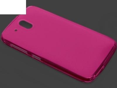 ПРОЗИРАЩ СИЛИКОНОВ ПРОТЕКТОР ЗА HTC DESIRE 526G+ Dual SIM - Pink Transparent