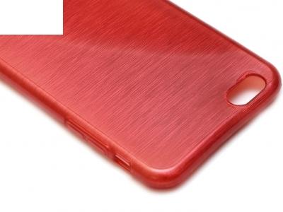 ПРОЗИРАЩ СИЛИКОНОВ ПРОТЕКТОР ЗА iPhone 6 Plus 5.5-inch - Red
