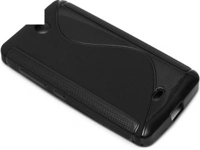 SILICON PROTECTOR για το Microsoft LUMIA 430 / Dual SIM RM-1066 RM-1067 RM-1099 - μαύρο