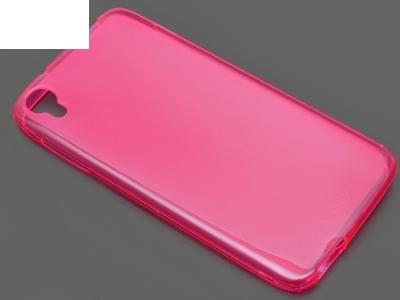 ПРОЗИРАЩ СИЛИКОНОВ ПРОТЕКТОР ЗА ALCATEL ONE TOUCH IDOL 3 4.7-inch - Pink Transparent