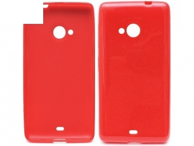 Ultra Thin SHINY ΣΙΛΙΚΟΝΗΣ PROTECTOR για το Microsoft LUMIA 535/535 Dual SIM RM-1090/1092 - Κόκκινο