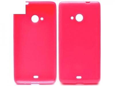 ULTRA PROTECTOR ΛΕΠΤΟ SHINY σιλικόνη για το MICROSOFT LUMIA 535/535 Dual SIM RM-1090/1092 - Ροζ