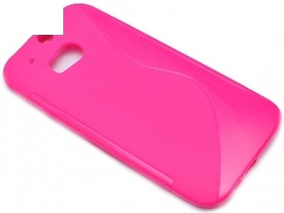 СИЛИКОНОВ ПРОТЕКТОР ЗА HTC ONE M8 - Pink