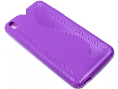 СИЛИКОНОВ ПРОТЕКТОР ЗА HTC DESIRE 816 - Purple