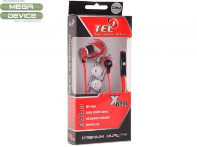 HandsFree TEL1 PRESTIGE STEREO - Red