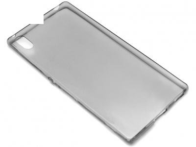 УЛТРА ТЪНЪК ПРОЗРАЧЕН СИЛИКОНОВ ПРОТЕКТОР ЗА SONY XPERIA Z3+ / Z4 E6553 - Grey Transparent