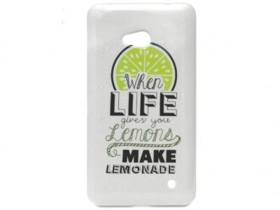 СИЛИКОНОВ ПРОТЕКТОР ЗА MICROSOFT LUMIA 640 LTE RM-1109 RM-1077 When Life Given YOU Lemons Make Lemonade