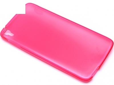 ПРОЗИРАЩ СИЛИКОНОВ ПРОТЕКТОР ЗА ALCATEL ONE TOUCH IDOL 3 5.5-inch - Pink Transparent