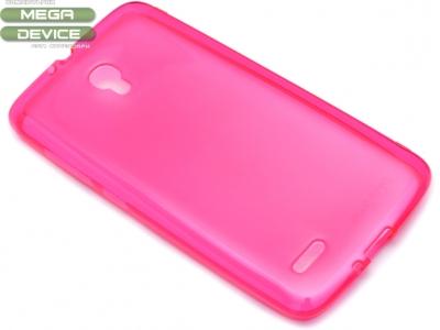 ПРОЗИРАЩ СИЛИКОНОВ ПРОТЕКТОР ЗА ALCATEL POP 2 PREMIUM 5.0-inch OT-7044Y - Pink Transparent
