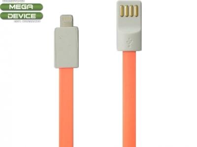 USB КАБЕЛ ЗА iPad 4 Air / Mini 1, 2, 3 - Fluorescent Orange