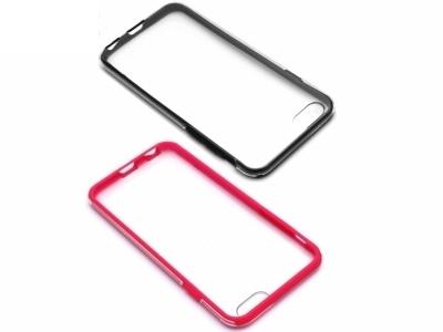ПРОЗРАЧЕН ПРОТЕКТОР ОТ 3 МОДУЛА ЗА iPhone 6 / 6s 4.7-inch - Black / Pink