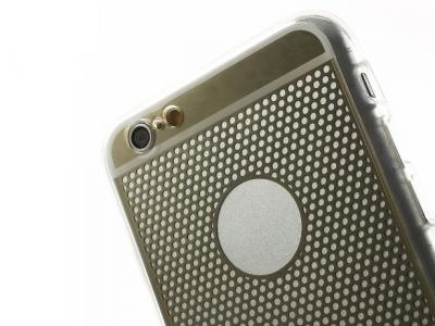 ПРОЗРАЧЕН СИЛИКОНОВ ПРОТЕКТОР ЗА iPhone 6 Plus / 6s Plus 5.5-inch - Gold Grid
