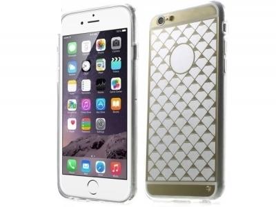 ПРОЗРАЧЕН СИЛИКОНОВ ПРОТЕКТОР ЗА iPhone 6 Plus / 6s Plus 5.5-inch - Gold Rhombus