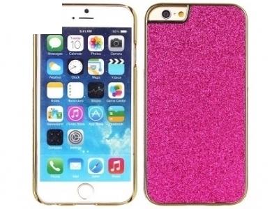 PVC ПРОТЕКТОР С БРОКАТ ЗА iPhone 6 Plus / 6s Plus - Pink