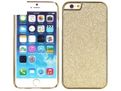 PVC ПРОТЕКТОР С БРОКАТ ЗА iPhone 6 Plus / 6s Plus - Gold