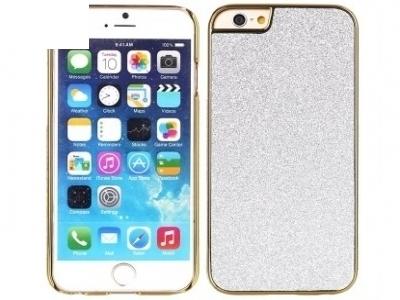 PVC ПРОТЕКТОР С БРОКАТ ЗА iPhone 6 Plus / 6s Plus - Silver