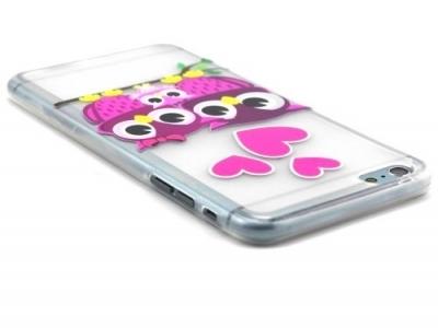 ПРОЗРАЧЕН СИЛИКОНОВ ПРОТЕКТОР ЗА iPhone 6 Plus / 6s Plus 5.5-inch - Embossed Owl Family