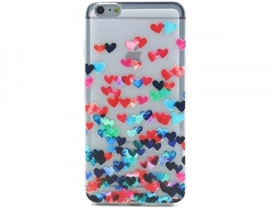ПРОЗРАЧЕН СИЛИКОНОВ ПРОТЕКТОР ЗА iPhone 6 Plus / 6s Plus 5.5-inch - Embossed Flying Heart