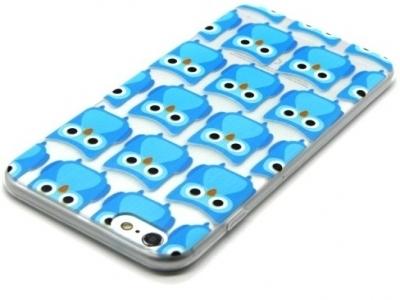 ПРОЗРАЧЕН СИЛИКОНОВ ПРОТЕКТОР ЗА iPhone 6 Plus / 6s Plus 5.5-inch - Blue Little Owls