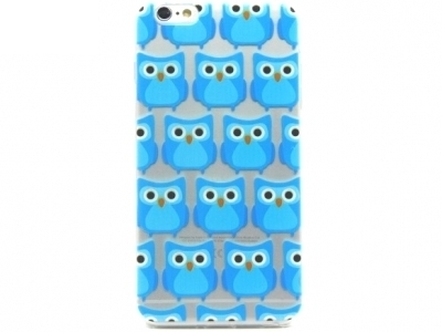 TRANSPARENT SILICON PROTECTOR FOR iPhone 6 Plus / 6s Plus 5.5-inch - Blue Little Owls
