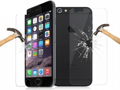 FRONT AND BACK GLASSS  SHOCKPROOFS SCREEN PROTECTORS FOR iPhone 6 Plus / 6s Plus 5.5-inch