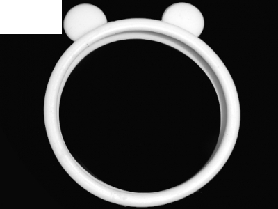 СИЛИКОНОВ БЪМПЕР С УШИЧКИ ЗА iPhone 6 Plus / 6s Plus 5.5-inch - Bear Ears White
