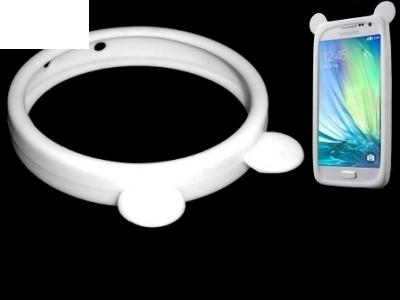 СИЛИКОНОВ БЪМПЕР С УШИЧКИ ЗА iPhone 5 / 5S / 5c - Bear Ears White