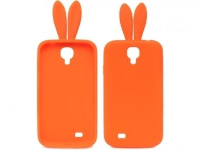 СИЛИКОНОВ ПРОТЕКТОР С УШИЧКИ ЗА SAMSUNG GALAXY S4 i9500 - Orange