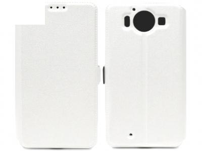 Ultra Thin Δέσιμο στο πλάι υπόθεση Microsoft LUMIA 950-RM 1104 - Λευκή