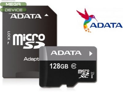 128GB microSDXC + Atapter CLASS 10 MEMORY CARD ADATA