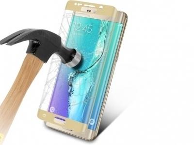 Стъклен Протектор 3D Full CURVED за Samsung Galaxy S6 Edge 2015 G925, Златист