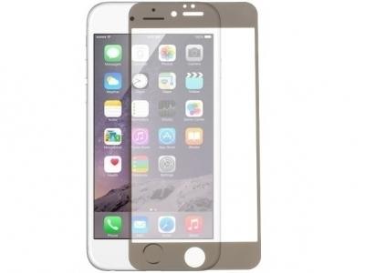 СТЪКЛЕН УДАРОУСТОЙЧИВ СКРИЙН ПРОТЕКТОР С РАМКА ЗА iPhone 6 / 6s - Black Transparent