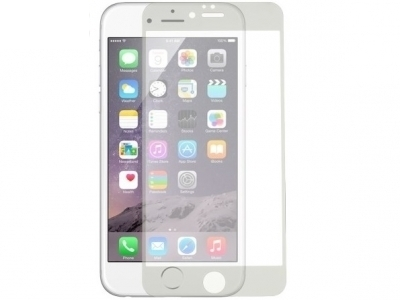 GLASS SHOCKPROOF SCREEN PROTECTOR WITH FRAME FOR iPhone 6 / 6s - Silver