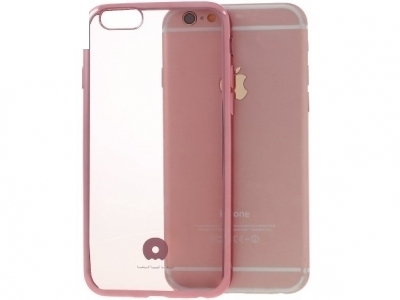 TRANSPARENT SILICONЕ BACK WITH FRAME FORiPhone 6 Plus / 6s Plus 5.5-inch - Rose Gold