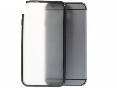 ПРОЗРАЧЕН PVC ГРЪБ СЪС СИЛИКОНОВА РАМКА ЗА iPhone 6 / 6s 4.7-inch - Black