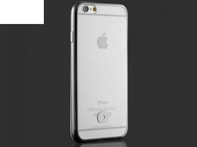 JLW TRANSPARENT SILICONЕ BACK WITH FRAME FOR iPhone 6 Plus / 6s Plus 5.5-inch - Silver