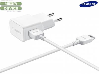 ОРИГИНАЛНО ЗАРЯДНО УСТРОЙСТВО 220V USB-3.0 2A 5.3V EP-TA10EWE SAMSUNG GALAXY NOTE 3 2013 N9005 - White