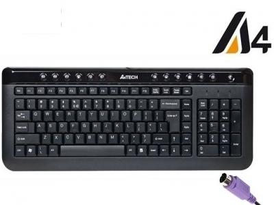 КЛАВИАТУРА A4Tech KL-40 X-SLIM PS/2  - Black