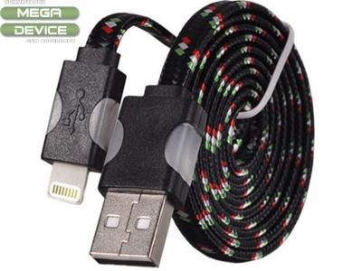 USB КАБЕЛ С LED СВЕТЛИНИ ЗA iPad 4 Air / Mini 1, 2, 3 - Black