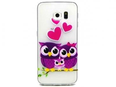 ПРОЗРАЧЕН СИЛИКОНОВ ПРОТЕКТОР ЗА SAMSUNG GALAXY S6 EDGE SM-G925F - Lovely Owl Family