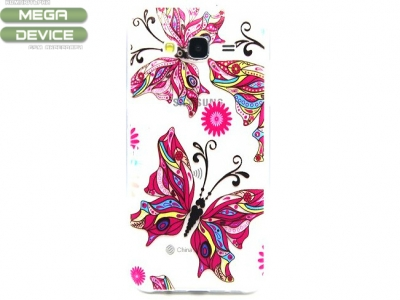 ПРОЗРАЧЕН СИЛИКОНОВ ПРОТЕКТОР ЗА SAMSUNG GALAXY J5 SM-J500F - Beautiful Butterfly