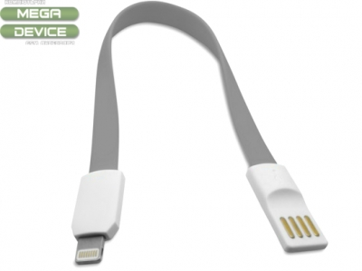 USB КАБЕЛ 20см ЗА iPad 4 Air / Mini 1, 2, 3 - Grey