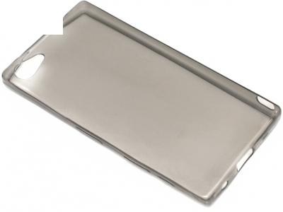 УЛТРА ТЪНЪК ПРОЗРАЧЕН СИЛИКОНОВ ПРОТЕКТОР ЗА SONY XPERIA Z5 Compact E5823 - Grey Transparent