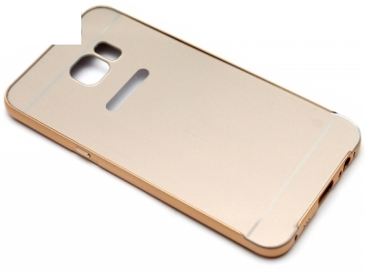 ГЛАНЦИРАН PVC ПРОТЕКТОР ЗА SAMSUNG GALAXY EDGE S6 PLUS SM-G928 - Gold