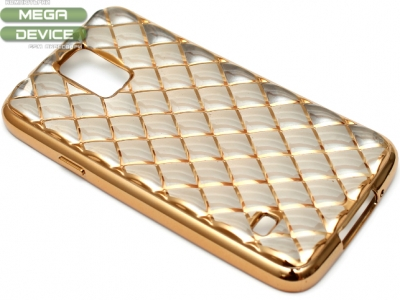 СИЛИКОНОВ ПРОТЕКТОР LUXURY ЗА SAMSUNG GALAXY S5 SM-G900F - Gold
