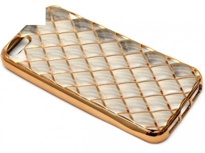 СИЛИКОНОВ ПРОТЕКТОР LUXURY ЗА iPhone 5SE / 6c - Gold