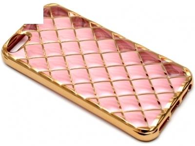 СИЛИКОНОВ ПРОТЕКТОР LUXURY ЗА iPhone 5SE / 6c - Rose Gold