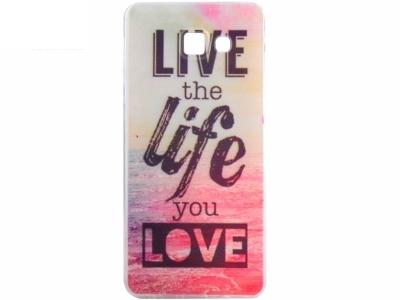 СИЛИКОНОВ ПРОТЕКТОР ЗА SAMSUNG GALAXY A3 (2016) SM-A310F - Quote Live the Life You Love